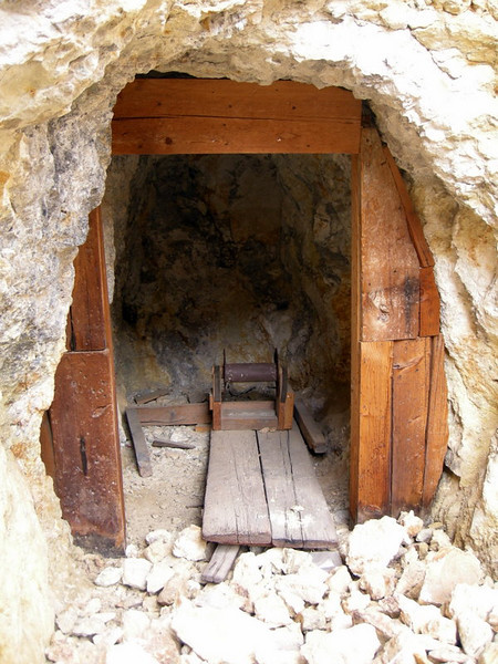 Equipment shed by one of the mines