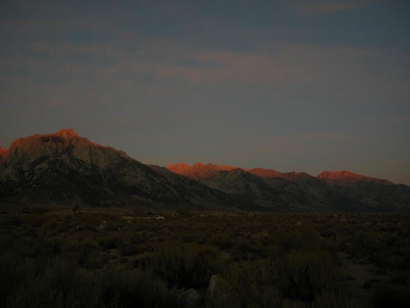 Sunrise over the 14ers