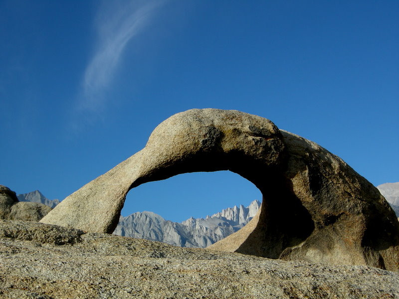 Mt Whitney through the arch (the rightmost peak framed by the arch)