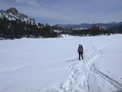 Flagpole Peak and Upper Echo Lake