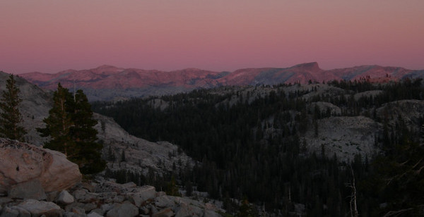 Sunset view from near camp