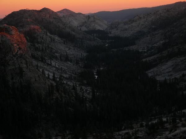 Louse Canyon at sunset