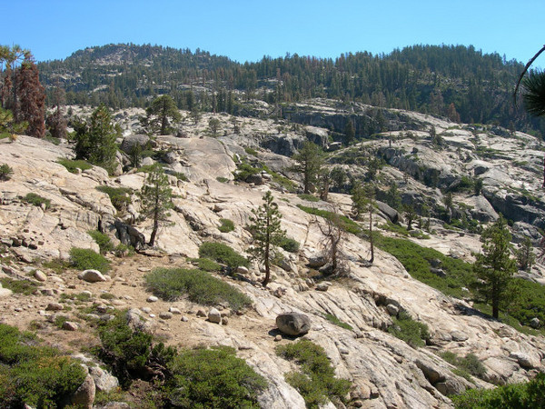 Typical Emigrant views - green and granite.