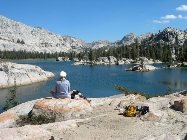 Lunch break at Buck Lakes on Sunday
