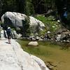The creek near camp