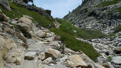 Finally we climb out of the valley on the typical Sierra Stairmaster steps.