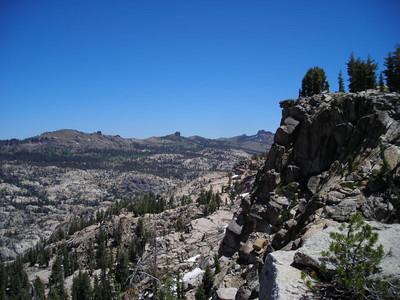 Back along the Burst Rock ridge.