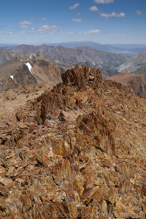 Very cool rock up here on the summit pile.