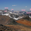 Some of the peaks labeled.