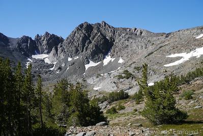 Black mountain crags