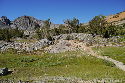 The crags of Black Mountain towered ahead of me. Excelsior mountain wasn't in view for the first half of the hike.