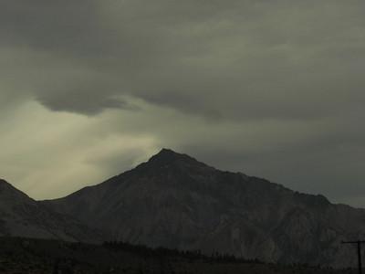 Mt Tom  Storm clouds building over Mount Tom.