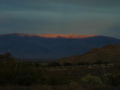 White Mountains Sunset  Sunset glow over the white mountains.