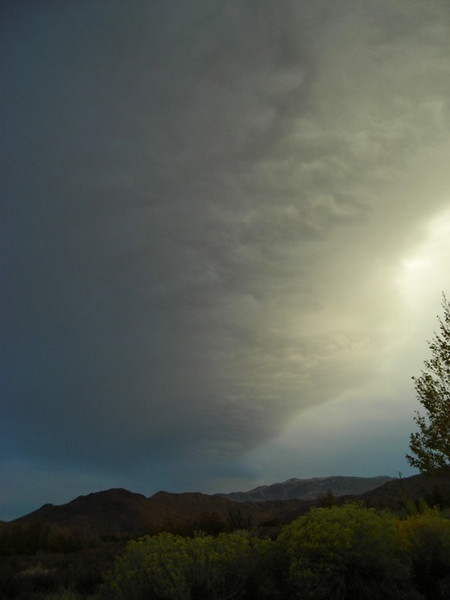 Cloud Formation<br /> <br /> A sierra wave - indicates that high winds are present near by. We would be treated to some massive gusts around 2 am.