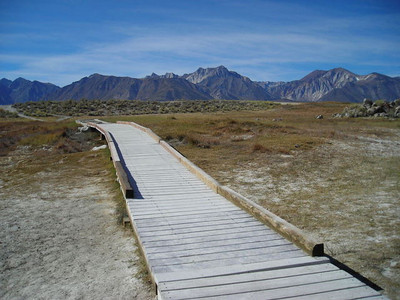 Crowley Hot Springs Walkway  This spring is one of the most 'developed'. A boardwalk protects the visitor and the volcanically active land.