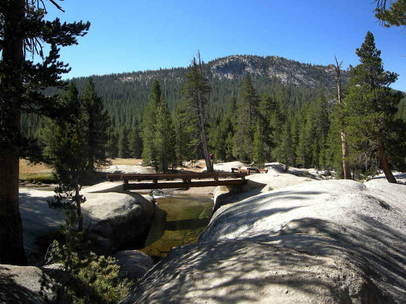 One of my favorite stops - the double bridge at the tuolumne river.