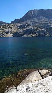 Beautiful clear deep lake.