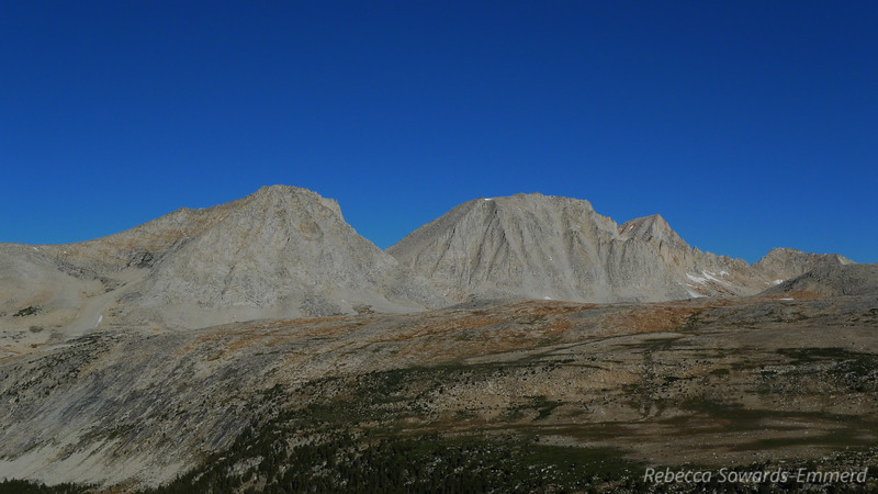 L to R: Merriam Peak, Royce Peak, Feather Peak