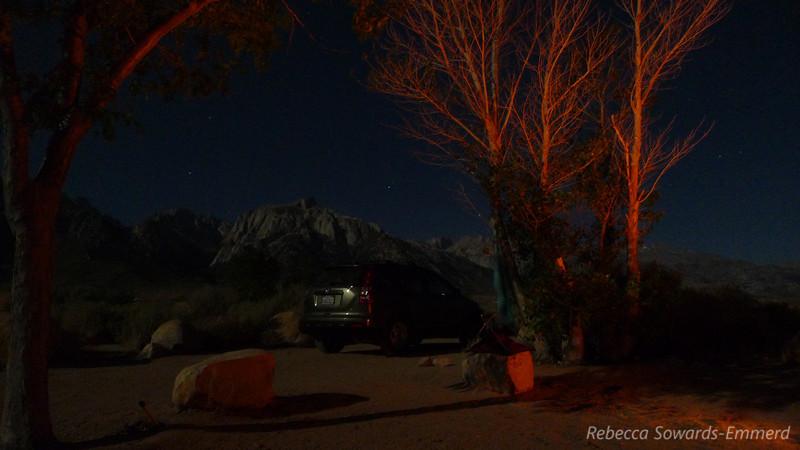 Campsite, 5 sec exposure