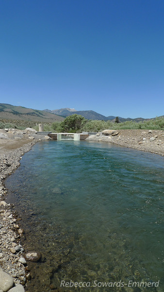 Stopped to fish along Rush Creek - found this interesting channel below the lakes. Looked like a swimming pool.