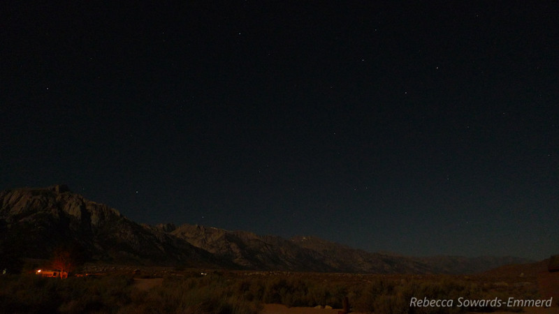 Campground and starry sky