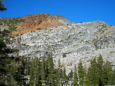 Views from camp at Gertrude Lake