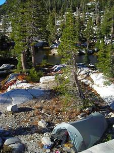 Camp  With my trusty Tarptent Cloudburst