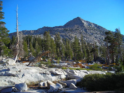 The back side of little Pyramid peak.