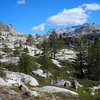 Trail to Gertrude<br /> <br /> The trail to gertrude lake starts off heading in the general direction of rockbound pass. Once the trail starts to climb, views of the Crystral Range come into sigh