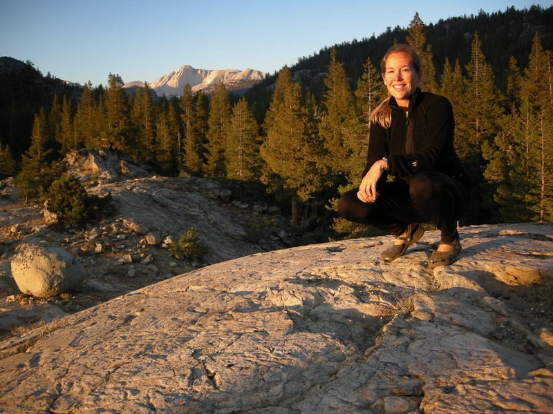 Me, at sunset.<br /> <br /> Mt Conness in background