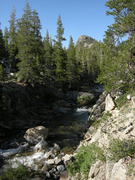 Conness Creek, view from our campsite