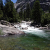 Rest break - sat here and cooled my feet in the cold water. Mmmm.