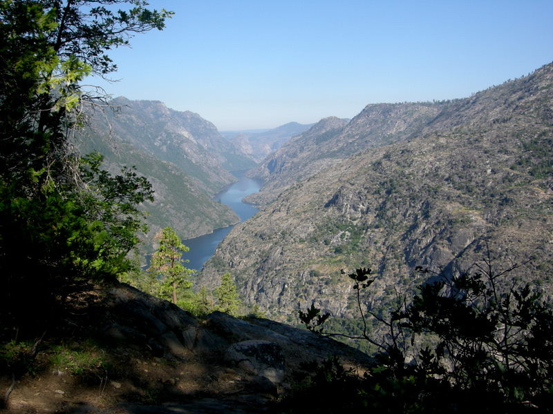 First view of Hetch Hetchy<br /> <br /> The Grand Canyon of the Tuolumne ends here. The water fills Hetch Hetchy and eventually becomes part of the Bay Area's water supply.