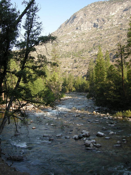 Morning on the Tuolumne River<br /> <br /> Today's hike takes us out of the Canyon and back to White Wolf, a 4000 ft climb.