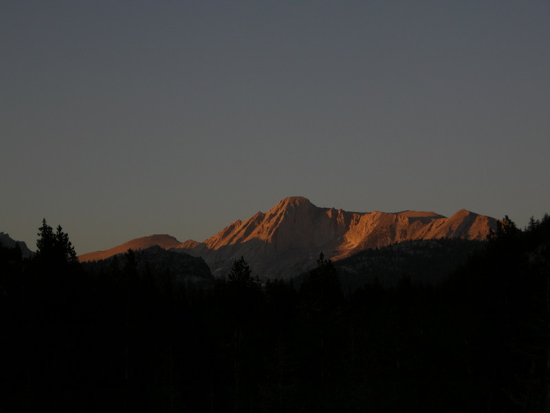 Mt Conness sunset glow