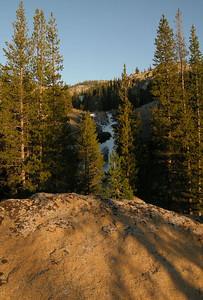 White Cascade hidden in the shadow