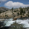The river becomes more turbulent as it approaches Tuolumne Falls