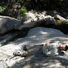 Dave relaxes at the waterfall<br /> <br /> We could have stayed here for days, I think, swimming and enjoying the pristine water