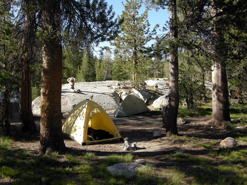Other part of camp with Paige and Barbara's tents