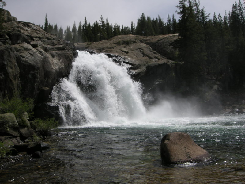 End of the White Cascade in Glen Aulin