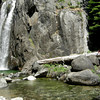Pavla arrives and photos the waterfall
