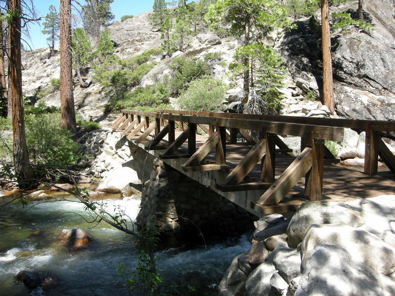 Footbridge at Return Creek<br /> <br /> Feeding into the Tuolumne River