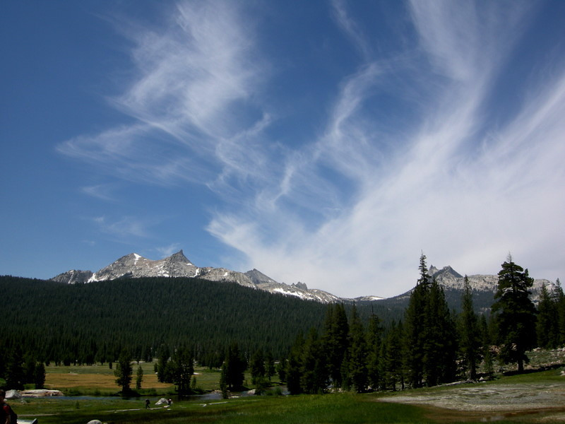 The Cathedral Range as viewed from the trail through Tuolumne