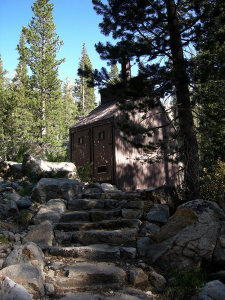 The glen aulin backpacker's camp solar composting outhouse