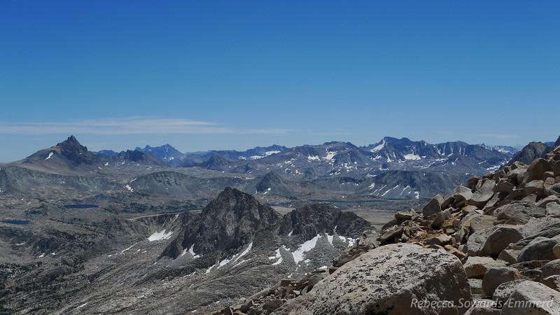 View towards Humphreys Basin, Glacier Divide. Mt Darwin
