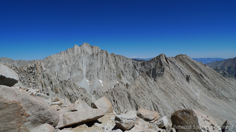 Bear Creek Spire is right in your face from the top of Julius Caesar. What an impressive peak to get a close look at from here.