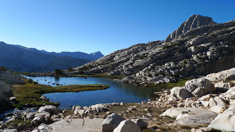 Horseshoe Lake in the morning. The pokey peak in the distance is Mt Humphreys, one we'll see on a much closer basis towards the end of the week.