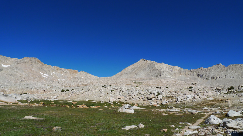 Italy Pass with Mt Julius Caesar on the right.
