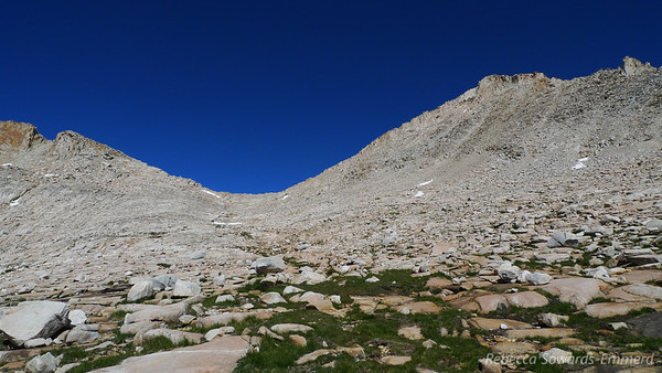 Italy Pass and Mt Julius Caesar. We followed the green path towards the pass and it was a good route.