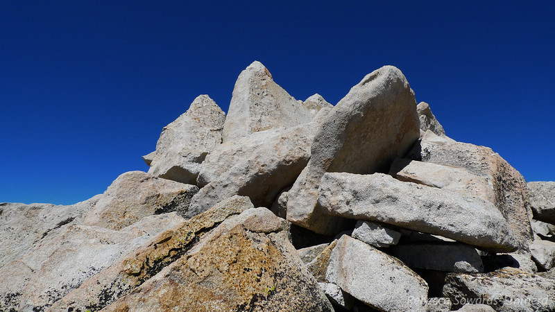Summit rocks. The rock hopping/route finding gets a bit more complicated up here, but it's not difficult.